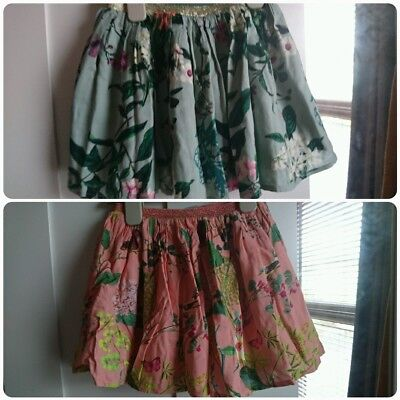2x Baby Girls next Floral Skirts Size 12-18months