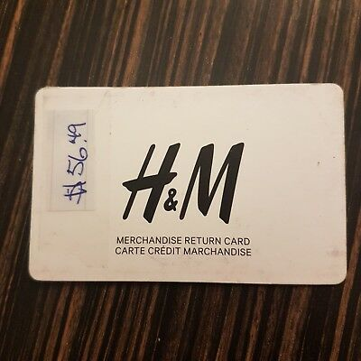 H&M Merchandise Credit Gift Card $56.49 Canada