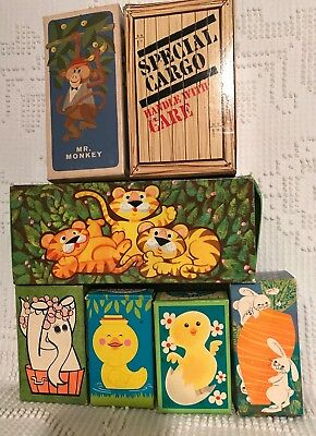 NOS Vintage Avon soap on a rope and soap animals, elephant,monkey,tiger,chick..