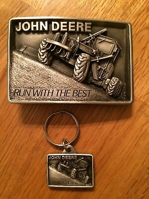john deere belt buckle key chain run with the best 1987 moline illinois