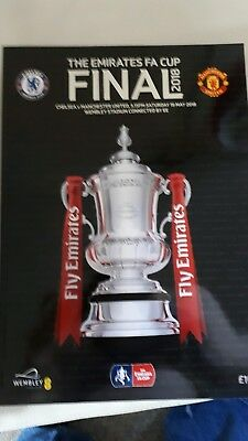 FA CUP FINAL 2018  CHELSEA v MAN UTD MINT PROGRAMME MANCHESTER UNITED