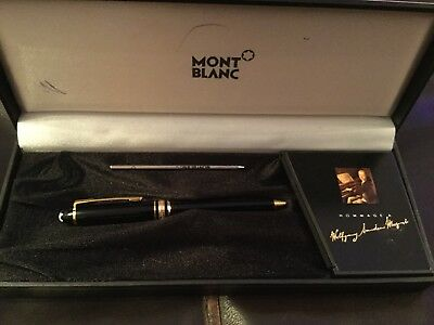 Gold And Black Mont Blanc Meisterstuck Ball point pen in box