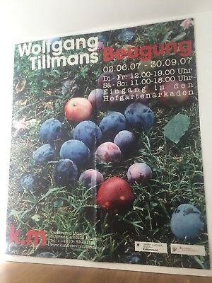 beautiful, rare Wolfgang Tillmans xl exhibition poster, 2007, used