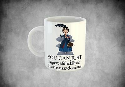 Mary Poppins funny coffee cup mug valentines gift birthday present for her him