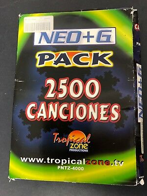 2500 Latino Espanol Tropical Spanish Karaoke Tracks ONLY for RSQ Neo+G Players