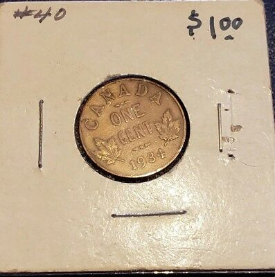 1934 Canada Small Cent/Penny