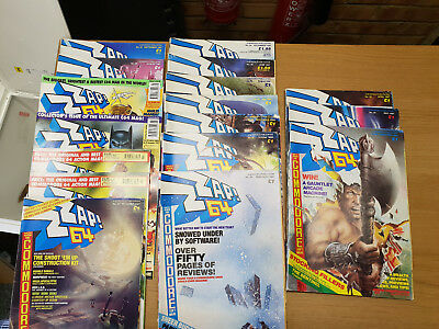 ZZap! 64 Collection of Magazines  Commodore 64