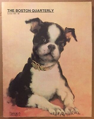 BOSTON TERRIER THE BOSTON QUARTERLY MAGAZINE SUMMER 1988 One Page Has Cut Out