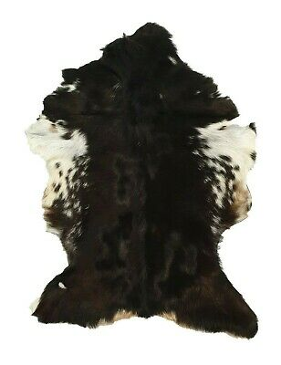 ANIMAL SKIN SOFT HAIR-ON LEATHER RUG RARE /& UNIQUE COWHIDE GOAT HIDE