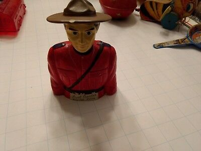 Vintage Royal Canadian Mounted Police Coin Bank Made in Japan Hand Painted