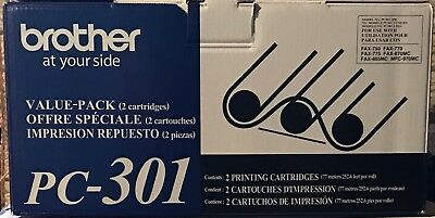 Brand New Brother PC-301 Dual Value Pack Black Toner Cartridge! Free Shipping!