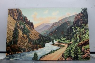 Montana MT West Yellowstone National Park Rockies Pines Cliffs Canon Postcard PC