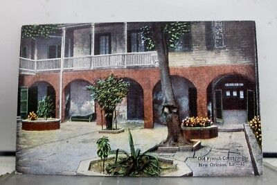 Louisiana LA New Orleans French Courtyard Postcard Old Vintage Card View Post PC