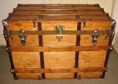 Antique Henry Likly & Co. Steamer Trunk