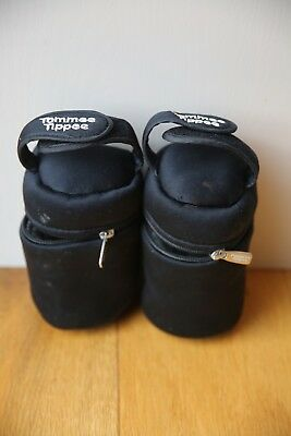 tommy tippee thermal insulated bottle holders x2