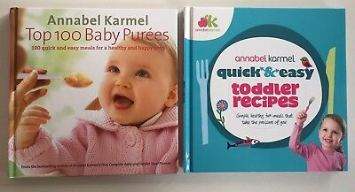 Annabel Karmel Top 100 Baby Purees And Quick & Easy Toddler Recipe Books
