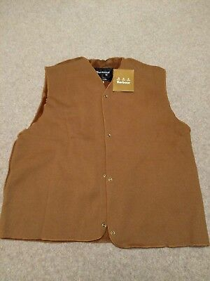 """Barbour Warm Pile Snap-in Lining (42"""" Chest) New with tags"""