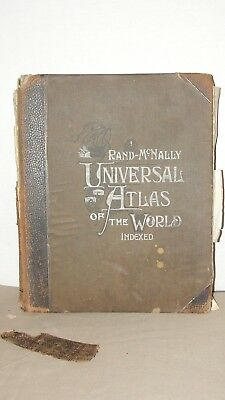 1900 RAND-McNALLY UNIVERSAL ATLAS OF THE WORLD - INDEXED