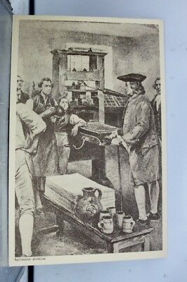 Art Stephen Day Printing Shop Postcard Old Vintage Card View Standard Souvenir