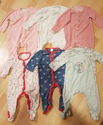 Bundle Of Beautiful Girls Sleepsuits 6-9 Months, Mothercare & Mini Club