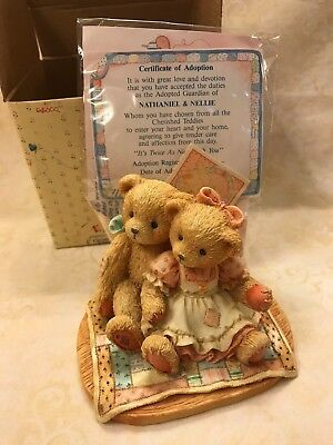 Cherished Teddies Nathaniel & Nellie, It's Twice As Nice With You