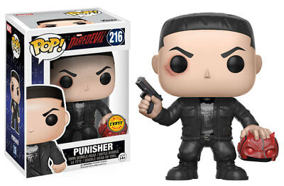 Funko Pop! Daredevil Punisher Vinyl Figure 216 Chase NIB