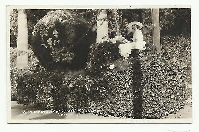 Real Photo card showing float from 1921 Rose Bowl parade. Unposted, but writing