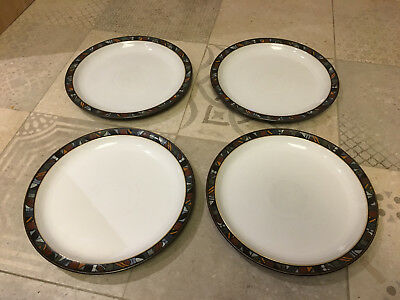 Denby Marrakesh Dinner Plates x 4 - 10 Inch diameter. Used Great condition