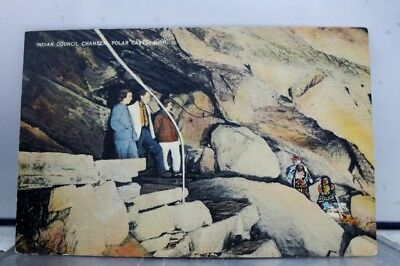 New Hampshire NH Polar Caves Indian Council Chamber Postcard Old Vintage Card PC