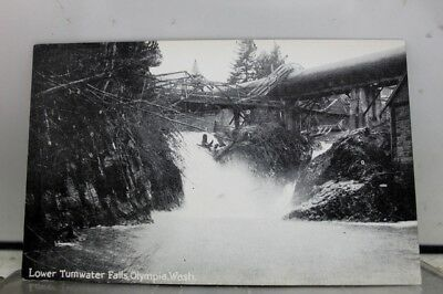 Washington WA Olympia Lower Tumwater Falls Postcard Old Vintage Card View Post