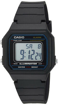 Casio Men's Digital Quartz Black Resin Watch W217H-1AV