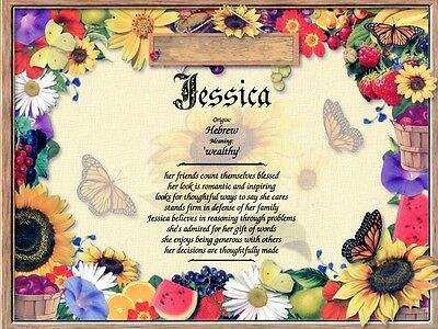 """""""Garden"""" Name Meaning Print Personalized (Nature Floral Flowers)"""