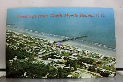 South Carolina SC North Myrtle Beach Windy Hill Greetings Postcard Old Vintage