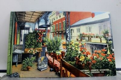 Louisiana LA New Orleans French Quarter Gallery Postcard Old Vintage Card View