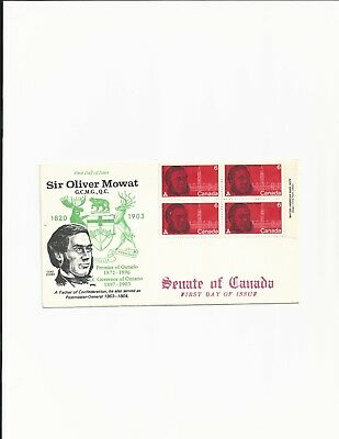 ERROR !!!  Government of Canada FDC imprinted Senate of Canada but not cancelled