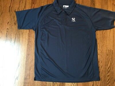 784d38ec9db NEW YORK YANKEES Antigua Embroidered Pique Xtra-Lite Navy Classic ...