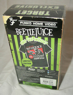 Funko Beetlejuice Dantes Room T-Shirt New Sz Lg Sealed VHS Box Target Exclusive