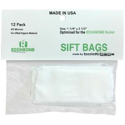 All ROSINBOMB SIFT AND FLOWER BAGS WORK WITH ROSIN TECH