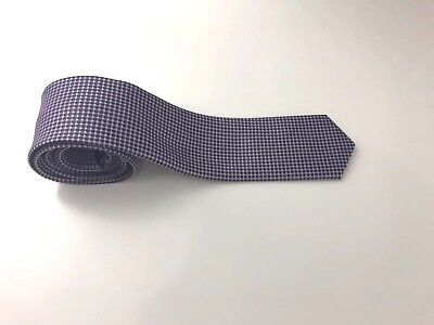 Hugo Boss 100% Silk Purple Multicolored Skinny Water Repellent Italian Tie