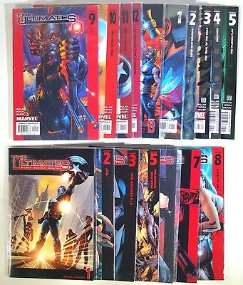 Marvel Comics Lot. 2002 The Ultimates #1-#13 And 2005 The Ultimates 2 #1-#5.