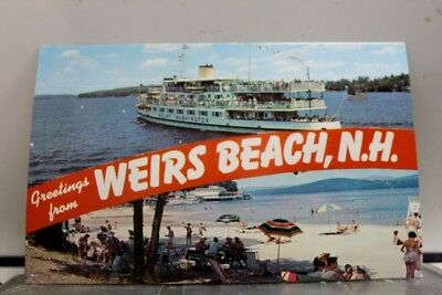 New Hampshire NH Weirs Beach Greetings Postcard Old Vintage Card View Standard