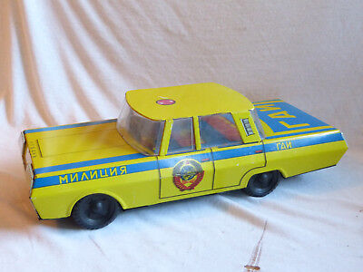Russian Sovjet Police Car russisches Blechauto made in USSR Tin Toy 40cm