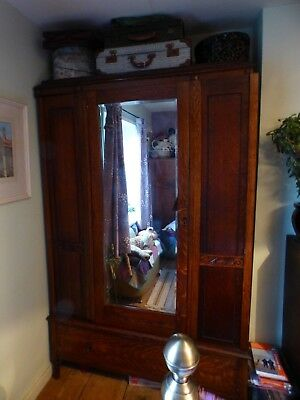 Antique edwardian wardrobe.