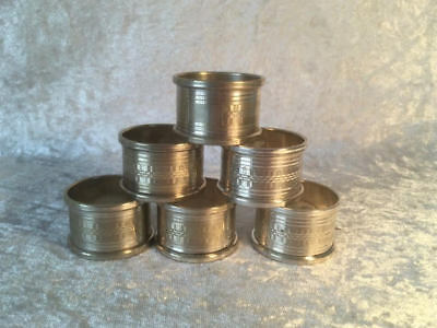 Six Vintage Silver Plated Napkin Rings