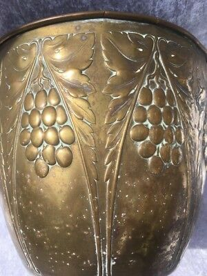 Arts Crafts Brass Planter