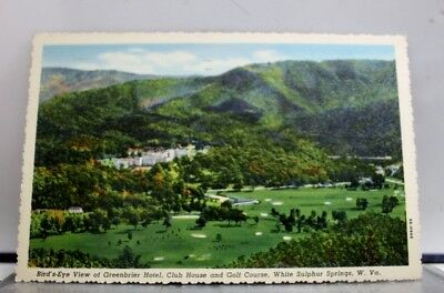 West Virginia White Sulphur Springs Greenbrier Hotel Club House Golf Postcard PC