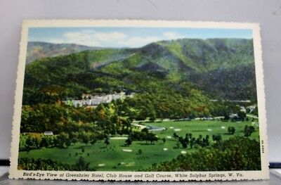 West Virginia WV White Sulphur Springs Golf Course Greenbrier Hotel Postcard Old