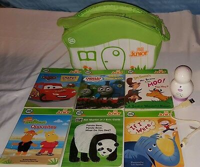 LOT Leap Frog Tag JR  Reader Pen Books Case Disney Cars Thomas Dr. Seuss