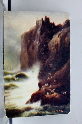 Art A Rocky Headland Postcard Old Vintage Card View Standard Souvenir Postal PC