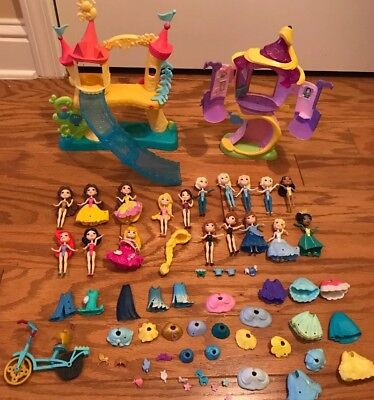 Disney Princess Little Kingdom Snap-Ins Dolls, Playsets and Accessories Lot